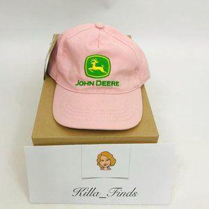 John Deere Toddler Girls Pink Hat Stretch Band Hat